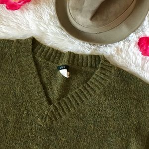 J.Crew September Mohair Wool Blend Green Sweater